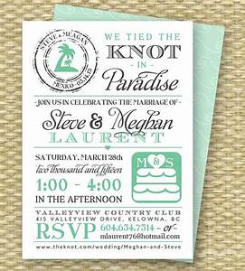 destination wedding invitation post destination wedding With wedding invitation wording samples the knot