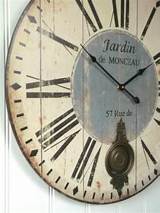Extra, Large, 60cm, Antique, French, Vintage, Style, Wall, Clock, Shabby, Chic, U2013, Amazing, Grace, Interiors