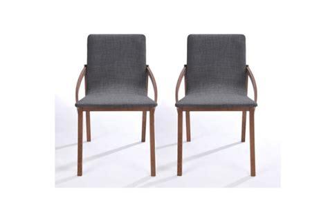 chaises en bois pas cher chaise design bois et tissu gris lot de 2 karo chaises