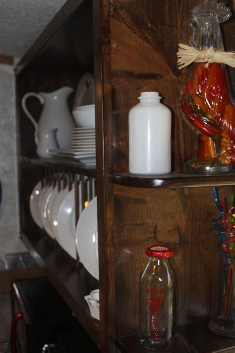 custom kitchen cabinet open shelves  plate rack etsy