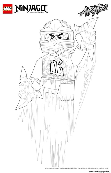 cole ninjago jumped  coloring pages printable