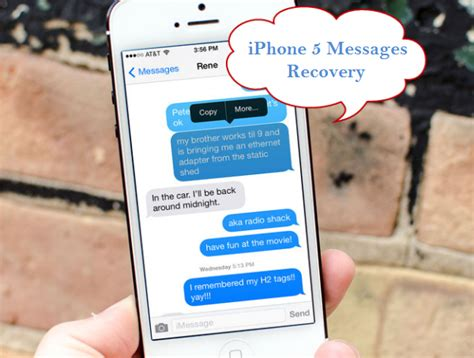 how to get deleted messages on iphone backup and recover iphone5 5s 5c data iphone 5 data