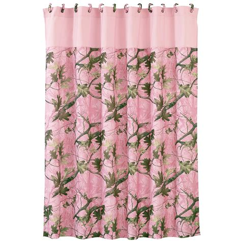 pink shower curtains luxury pink camo shower curtain cabin place