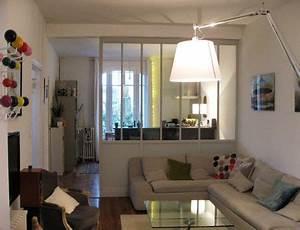 separation de la cuisine par une cloison vitree bois With separation vitree cuisine salon