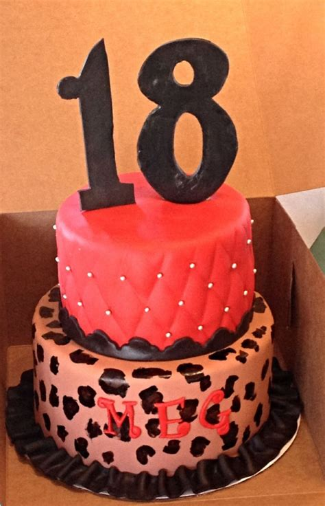 Red 18th Birthday Cake Ideas