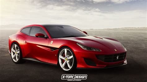New Ferraris by New Portofino Gets A Fixed Roof Its