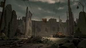 Ruined, city, broken, car (#51364)