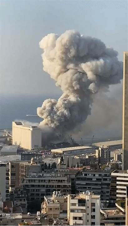 Explosion Beirut Lebanon Gifs Explosao Lebanese Shockwaves