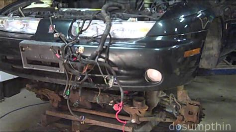 removing  engine   bottom engine transmission