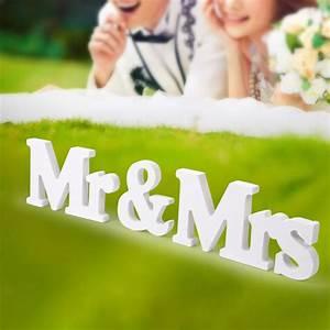 Mr Mrs Deko Buchstaben : holz mr mrs buchstaben holzbuchstaben wei hochzeit tischdeko herr und frau ebay ~ Markanthonyermac.com Haus und Dekorationen