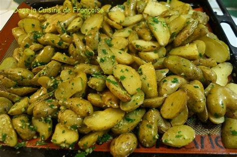 pommes de terre ratte r 244 ties au four dans la cuisine de