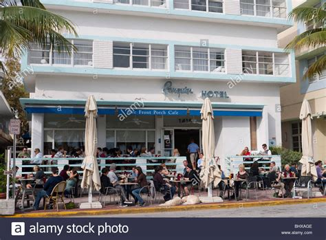the porch cafe front porch cafe on drive south miami stock