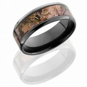 Black Zirconium Camo Ring: Wedding Band for Him