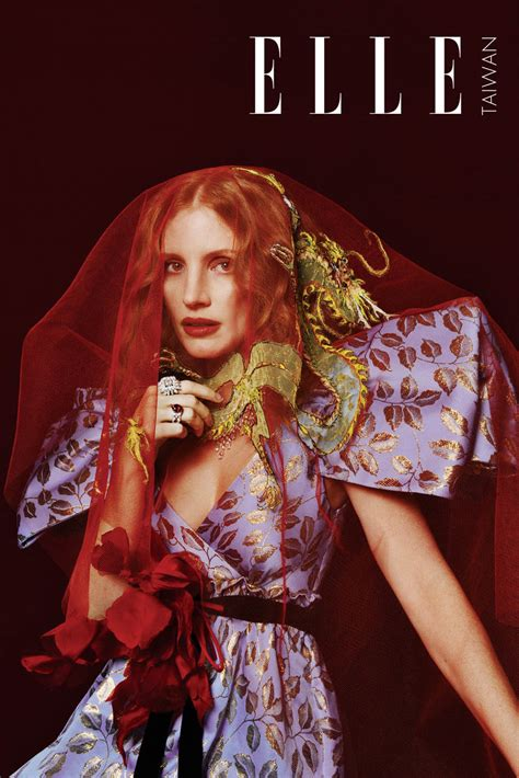 jessica chastain covers elle taiwan january   zhong lin