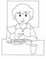 Breakfast Coloring Pages Getdrawings sketch template