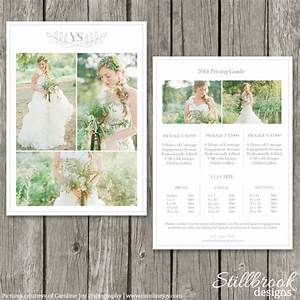Photography pricing template price guide list for for Templates for wedding photographers
