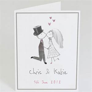 Personalised bride and groom wedding card by violet for Wedding cards pictures bride groom