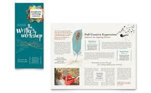 wedding program poster writer 39 s workshop brochure template design
