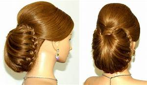 Braided updo hairstyle for long hair tutorial YouTube
