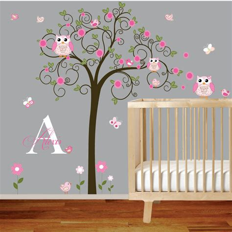 stickers hibou chambre bébé image gallery nursery wall decals removable