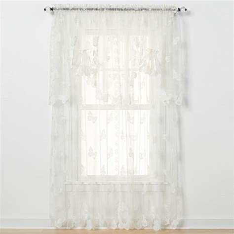 butterflies lace curtains fan swag by saturday