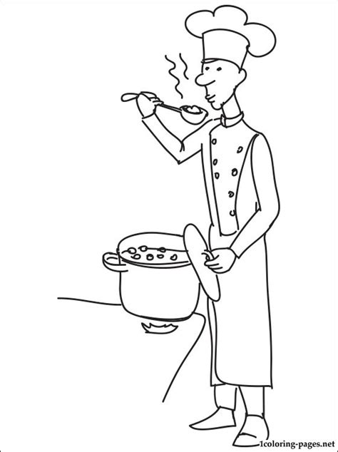 chief cook coloring page coloring pages