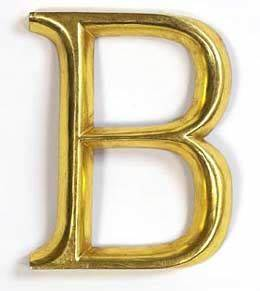 the gallery for gt b letter in gold With gold letter b