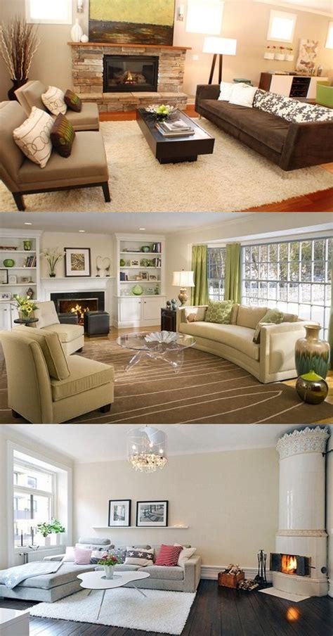 decorate  living room   fireplace interior