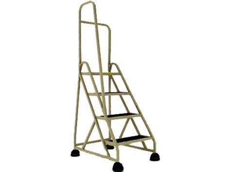 Stop-step Aluminum Safety Ladder W/left Handrail, 4 Steps