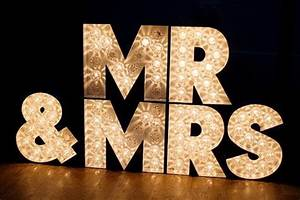 mr and mrs block letter marquee sign onewedcom With mr mrs block letters
