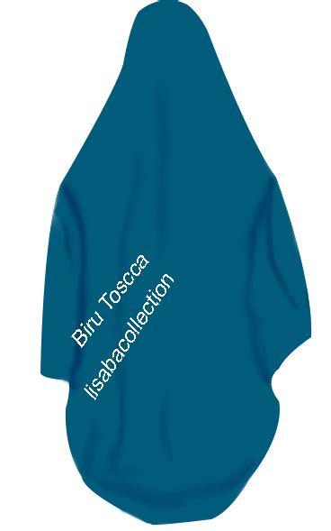 azzuracollection jilbab segi empat warna biru tosca