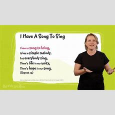 I Have A Song To Sing  Sing Sign™ (signing Video) Sample Youtube