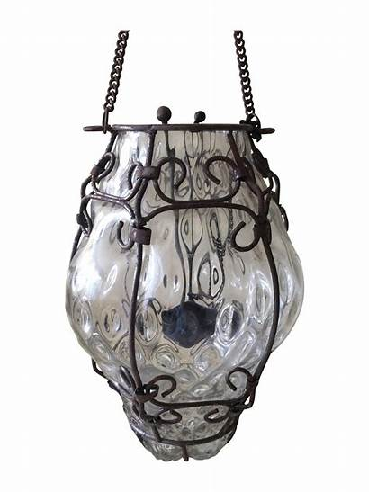 Chairish Glass Italian Bubble Cage Lights Candles