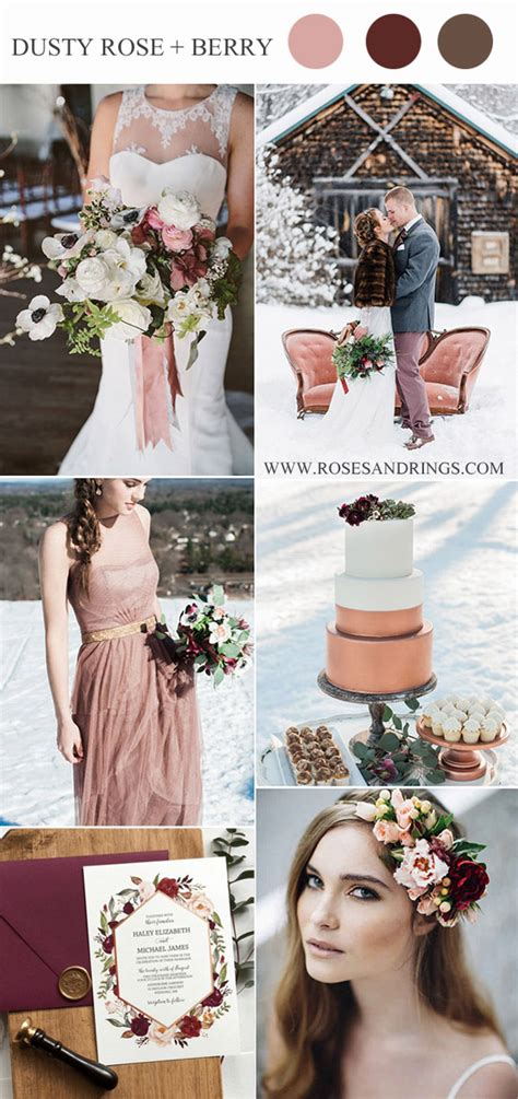 Top 10 Winter Wedding Color Palettes for 2019 & 2020