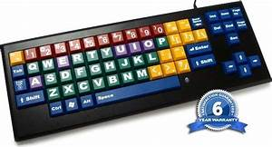 Big Periodic Table Large Or Color Coded Keys Keyboard At For Blind Low