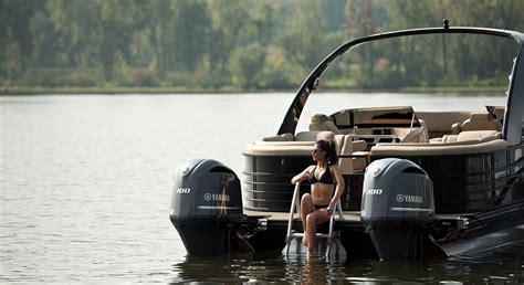 wide twin engine custom pontoon boats