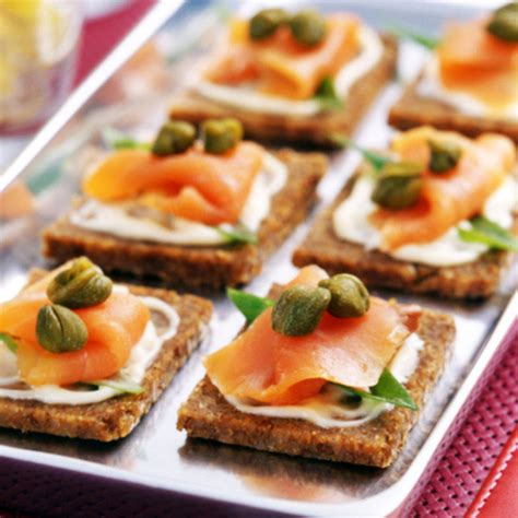 canape hors d oeuvres smoked salmon canapés