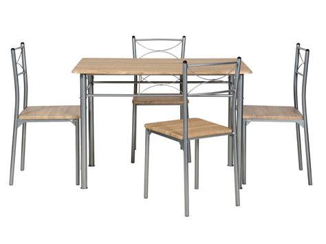 Ensemble Table Rectangulaire + 4 Chaises De Cuisine Tutti