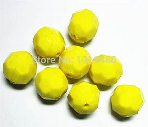 Aliexpress.com : Buy yellow color 20MM Acrylic Faceted ...