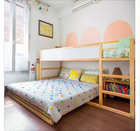 childrens bedside ls bedroom ikea kura bed with full bed under girls shared room