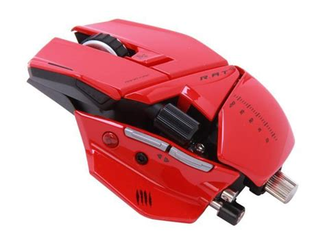 Mad Catz Rat9 Gaming Mouse For Pc And Mac Red