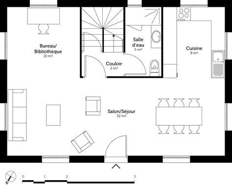salon et cuisine dans la meme incroyable cuisine et salon dans la meme 14 plan