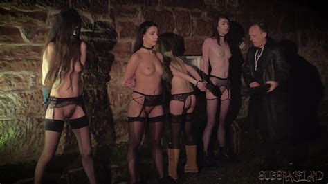 4 Slaves Punished And Humiliated By Master He Fucks And