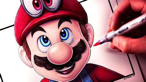 Lets Draw Super Mario Odyssey Mario And Cappy Fan Art