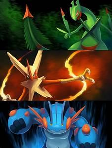 Gen Iii Mega Starters Httparkeis Pokemondeviantart