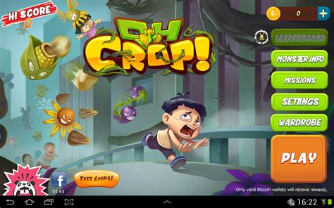 Mine bitcoin, the most popular criptocurrency online in your web browser. Oh Crop! Free Game For Android with Bitcoin Rewards ...