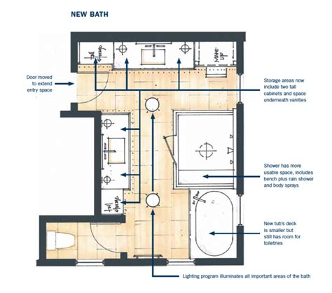floor plans his and bathrooms master bath makeover pro remodeler