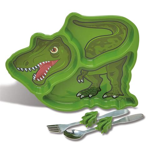 dinosaur childrens meal plate set colorful images
