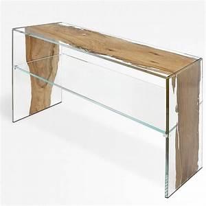 Console Verre Et Bois : table console en bois de briccola de venise et verre fenice continuo ~ Teatrodelosmanantiales.com Idées de Décoration