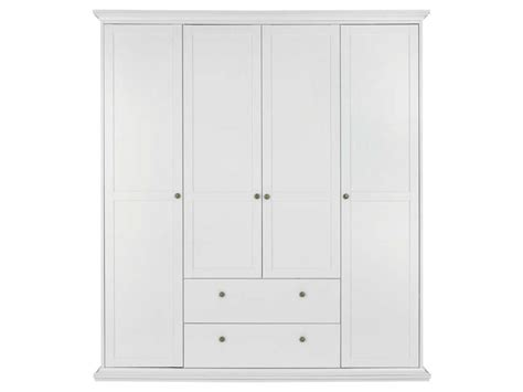 Armoire 4 Portes Battantes Harlington Coloris Blanc